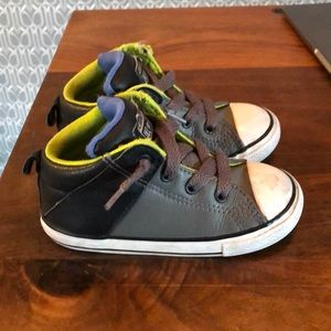 Converse high tops leather toddler